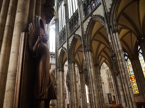 Angel statue in the Cologne Cathedral