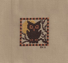 PS Pumpkin Patch owl by Renee's Stitching
