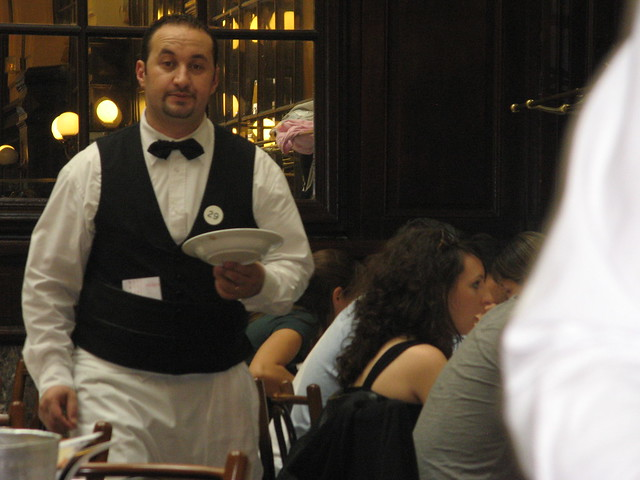 Waiter at Chez Chartier, famous brasserie in Paris
