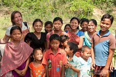Audrey With Group of Kids in Garo Village - Srimongal, Bangladesh (uncorneredmarket) Tags: people kids children bangladesh villagevisit indigenous srimongal garo garovillage garovillagevisit
