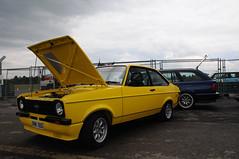 Ford Escort Mk2 (bmw m5 touring in bkgrnd) (hiphopcarjunkie) Tags: ford yellow race day durham group july croft bmw darlington 10th 11th circuit rs 2011 rsoc