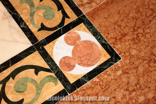 mickey on marble floor