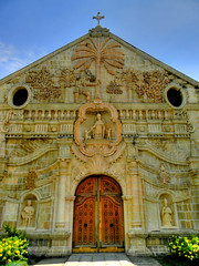 Miag-ao Church (Detail) (Gilbert Rondilla) Tags: camera sky color art church architecture facade digital photography nikon shrine shoot philippines chapel unescoworldheritagesite relief gilbert filipino baroque digicam hdr pinoy iloilo miagao pns l110 rondilla gilbertrondilla gilbertrondillaphotography luisianian gettyimagescollection gettyimagesphiliippinesq2 churchofstthomasofvillanueva gettyimagesphilippinesq2