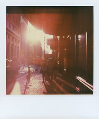 (jeffreywithtwof's) Tags: street nyc newyorkcity light summer sun film jeff analog polaroid sx70 1 shadows manhattan midtown heat integral instant alpha 33rd hutton timezero jeffhutton jeffhuttonphotography roidweek2011 jeffreyhutton