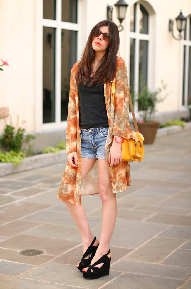 Leather Satchel, Jeffrey Campbell Mariel wedges, Fashion outfit