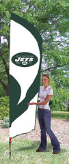 New York Jets Tall Feather Flag