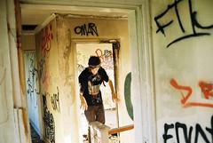 home sweet home (Dem Terror) Tags: life camera york portrait urban house color colour abandoned film window gold graffiti iso200 photographer pentax k1000 kodak onthego documentary tags 200 cracks exploration