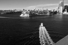 The early ferry (Andy Burton Oz) Tags: bridge steel sydney australia pedestrian walkway nsw footpath northsydney sydneyharbourbridge milsonspoint builtenvironment 2011 nikond40 andyburton afsdxzoomnikkor1855mmf3556gedii aperture311 flickrexport401