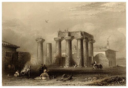 019-Ruinas de un templo antiguo en Corinto-La Grèce pittoresque et historique 1841- Christopher Wordsworth-© Biblioteca de la Universidad de Heidelberg