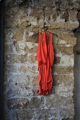 Red hanged in Jaffa (Shachar Laudon pics) Tags: old israel telaviv streetphotography july jaffa  glamor reddress contras  2011