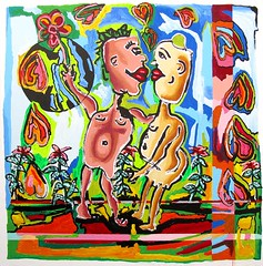 2            (naiveartworks) Tags: 2 people como art love del happy for la kiss kissing couple paint gallery child arte dancing emotion image pareja para amor paintings picture like free el relationship painter use una gratis naive raphael uso nio beso imagen pintor  pintura pinturas primitive perez primitivo relacin    emocin   galera   ingenua besndose