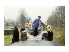 The funeral of 'Cassidy', Kensal Green Cemetery, 1974 c Charlie Phillips