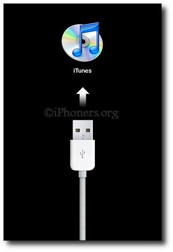 Connect to iTunes screen