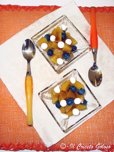 Pesche sciropp. e mirtilli al balsamico 3