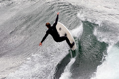 Riding the wall (Images by John 'K') Tags: california santacruz surfing explore pacificocean johnk explored d7000 johnkrzesinski randomok