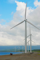 Bangui Bay Windmills (Carlo Rydman) Tags: cloud windmill clouds wind electricity ilocos stopmotion greenpower ilocosnorte bangui banguibay greenelectricity windyclouds