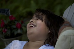 Relaxing summer (beingbailey) Tags: summer people girl smile canon photography child emotion candid laugh