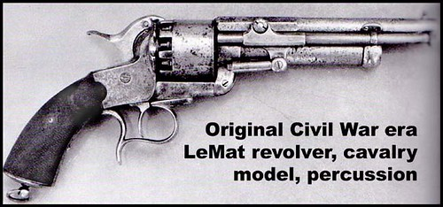 LeMat Revolver, Civil War, Percussion