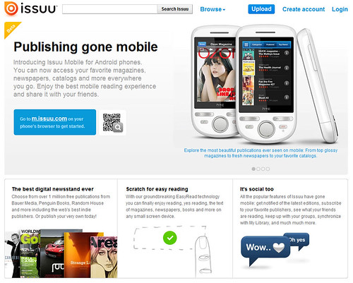 ISSUU Versión para Móviles