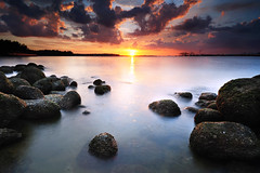 Untitled (DayDreamerz) Tags: sunset beach nikon punggol vr f4g 1635mm d700