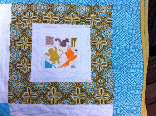 Central park boy quilt: Finished.