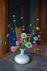 Seussical Button Bouquet