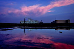 07-08-2011 (Shutterfreak ☮) Tags: sunset reflection rooftop water colors buildings oscarwilde dhaka
