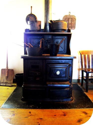Original wood stove in 1800's hotel on summit of Mt. Washington