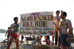 NYC World Naked Bike Ride 1