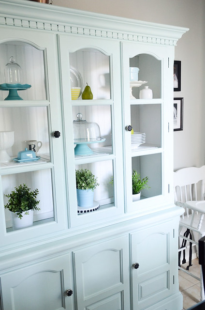 Favorite Paint Colors - blue hutch