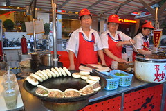 Chinese burgers (andrewyeoh76) Tags: china street people food interesting beijing burgers vendor streetfood exoticfood donghuamen