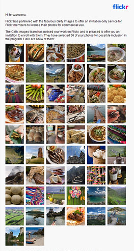 Getty Image invitation for 56 images