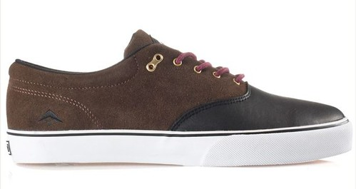 brown and black emerica cruisers