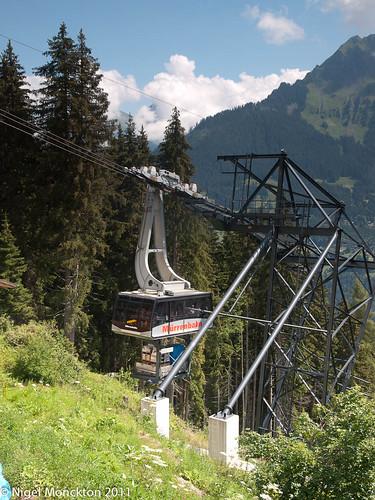 Cable Car from Lauterbrunnen to Grutschalp