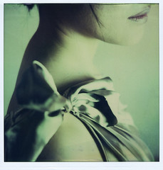 the knot (2) (philippe bourgoin) Tags: portrait colour girl polaroid sx70 editorial expired natsu fade2black
