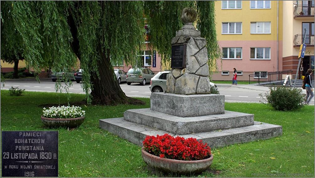 Biłgoraj pomnik bohaterów powstania listopadowego