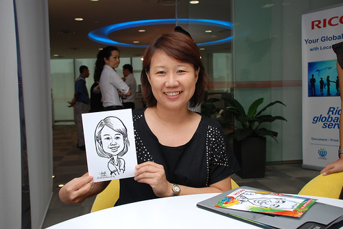 Caricature live sketching for Ricoh Roadshow - 9
