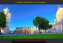 London Deserted (Muzammil (Moz)) Tags: uk london moz westministerabbey parlimentsquare muzammilhussain