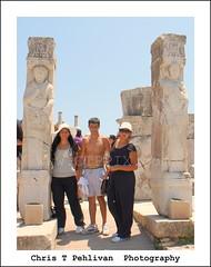 Aussies in Ephesus (CTPPIX.com) Tags: voyage trip vacation people guy girl canon turkey pose eos ancient ruins tour roman urlaub turkiye teens ct tourist 7d ctp selcuk ephesus aussies efes ege poz turchia tatil turkei christpehlivan ctppix