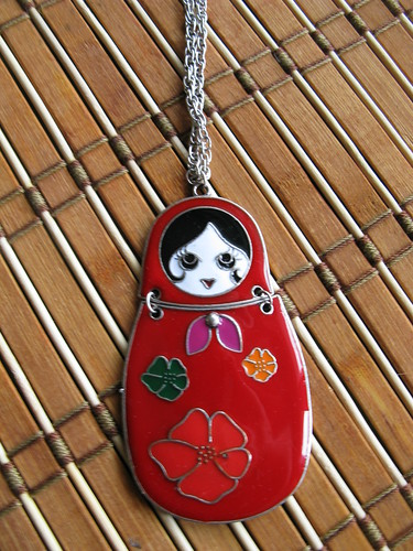 Summer accessories: matryoshka necklace