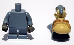 New Watto minifig, broken down