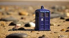 Tiny Tardis (Hellbelly) Tags: macro beach toy doctorwho tardis twitter skaledale canong12