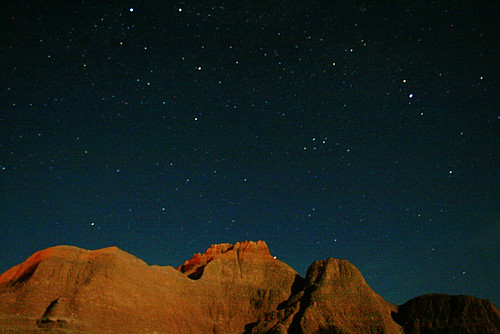 Night Sky over Badlands