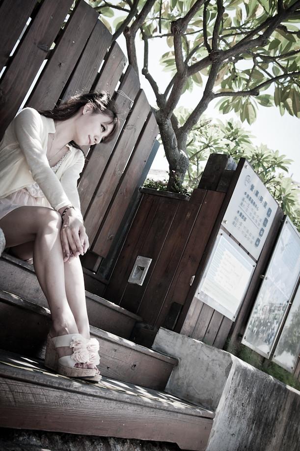 一夜沒睡與小娜遊淡水之照片改很大篇