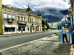 Braila (gulgulas) Tags: street city architecture buildings boot phone center braila