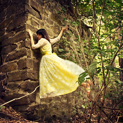 365/202 - Yellow Foundations (RachelMarieSmith) Tags: fashion canon vintage photography modeling floating levitation climbing canon60d