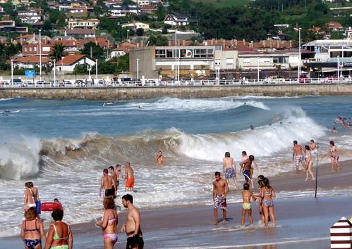 En Gijón: playa