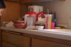 Tuesday: putting dishes away