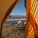 Vista della La Angostura dentro della tenda