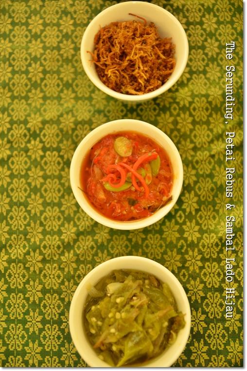 Various Sambal Lado & Serunding Daging
